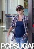 Reese Witherspoon looked casual in a flannel shirt and jeans.