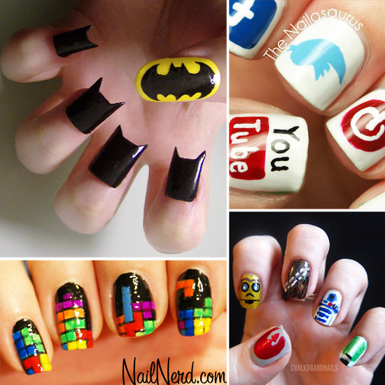 Awesome Nail Art: Geeky Nail Art