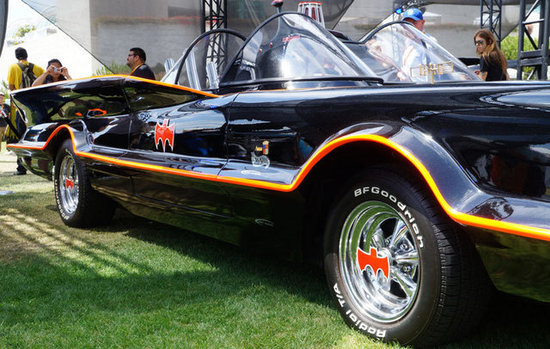 Hot rod Batmobile from the 1960s Batman TV series.