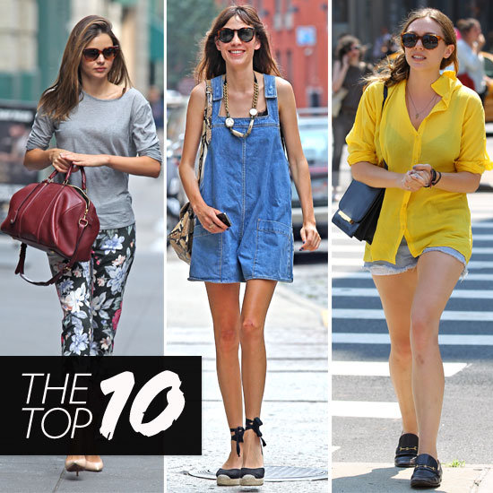 Top Ten Best Dressed Celebrities of the Week Featuring Miranda Kerr, Alexa Chung, Anne Hathaway & More!