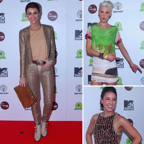 Ruby Rose, Kate Peck, Jules Sebastian Frock Up for the MTV Winter Party in Melbourne: See Their Killer Style!
