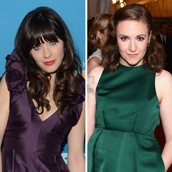 Zooey Deschanel & Lena Dunham Are Already Planning Their Emmy Nail Art