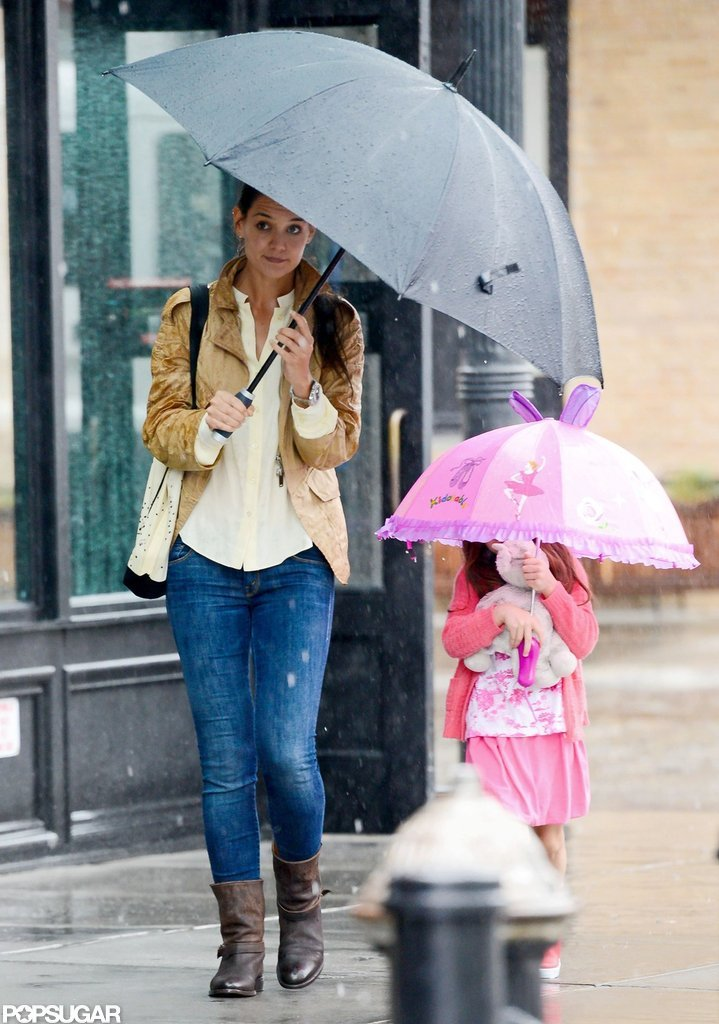 Katie and Suri Stick Close During a Summer Storm