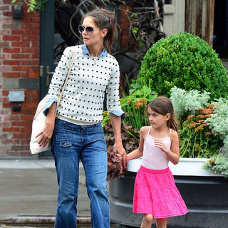 Katie Holmes and Suri Cruise at Pastis Pictures