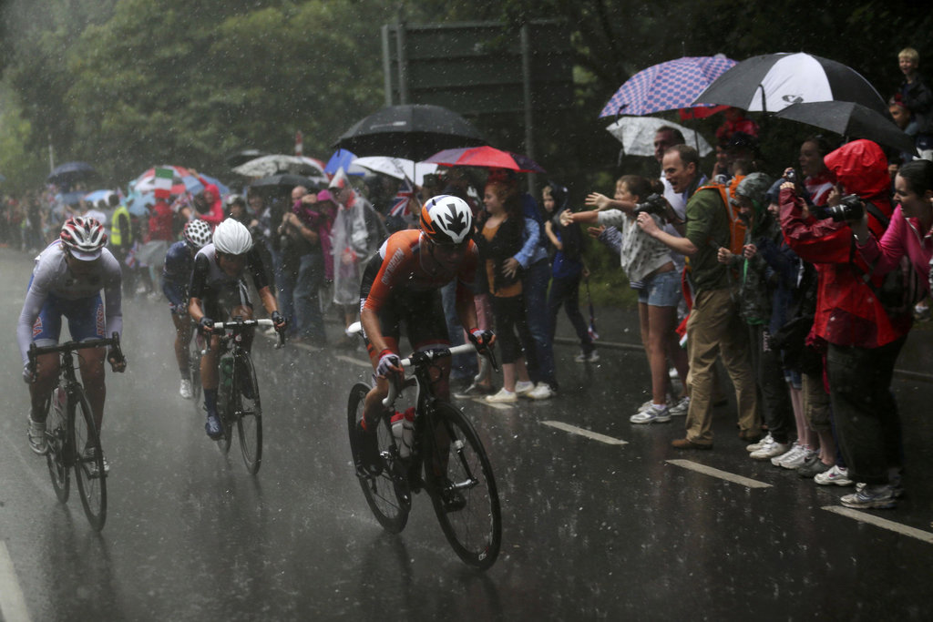 Wet Conditions For Women's Road Race