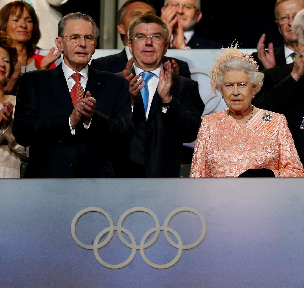 The queen took in the opening ceremony.