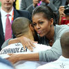 Michelle Obama at Olympics Basketball Game