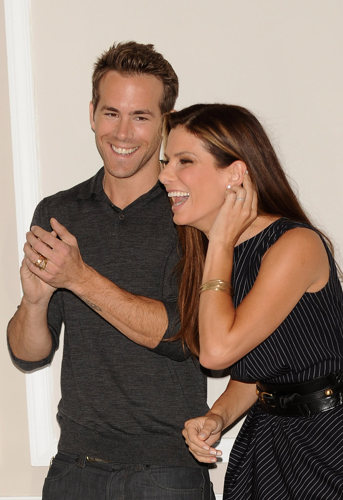 Ryan Reynolds and Sandra Bullock attended a photocall for their romantic comedy The Proposal in June 2009.