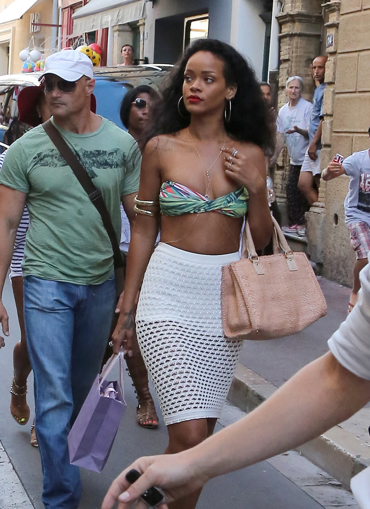 Rihanna Slips Into a Bikini For a Sexy Shopping Spree