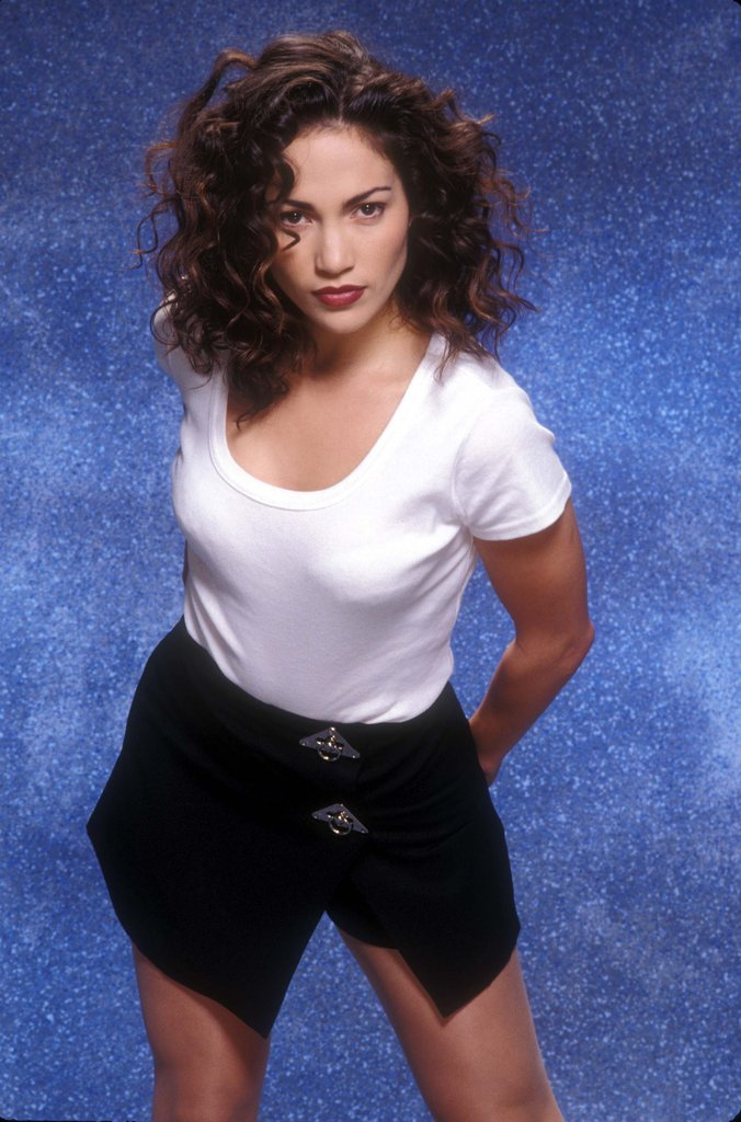 Jennifer Lopez got serious for a photo shoot in LA in 1994.