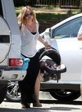 Hilary Duff got Luca out of the car in LA.