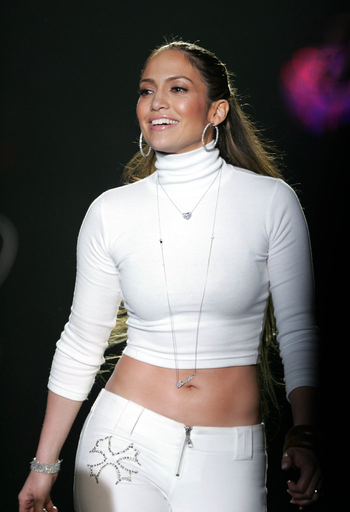 Jennifer Lopez showed off her collection at NY Fashion Week in Fall 2005.