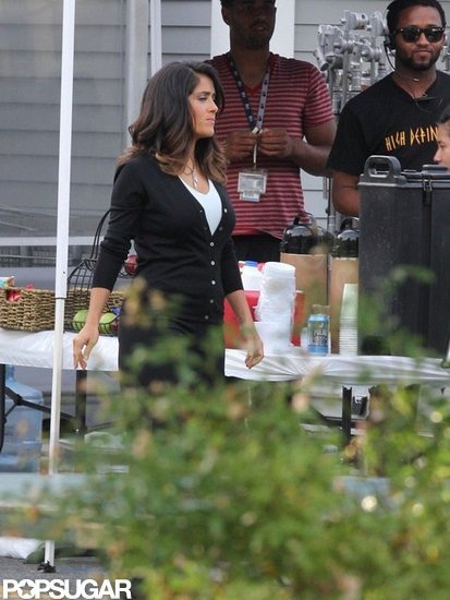 Salma Hayek in Boston.