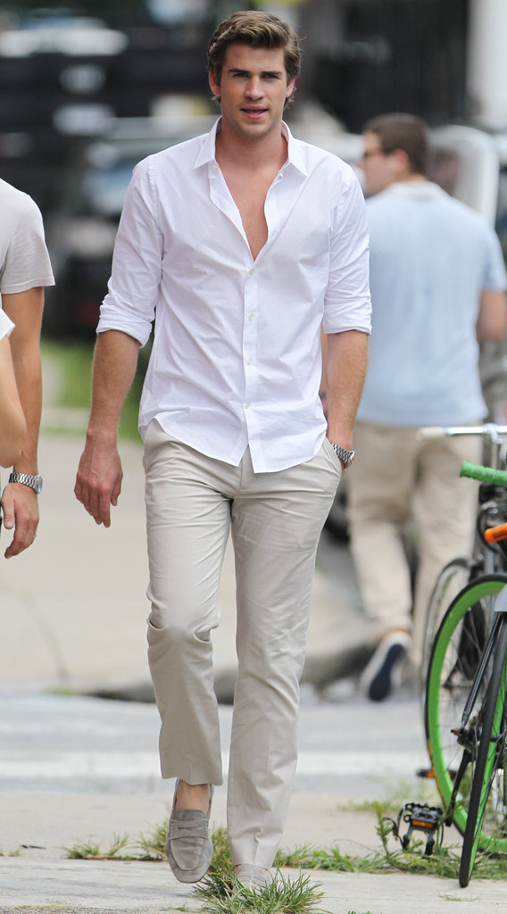 Liam Hemsworth Hits the Set For a Day of Paranoia
