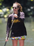 Julia Roberts soaked up the sun.