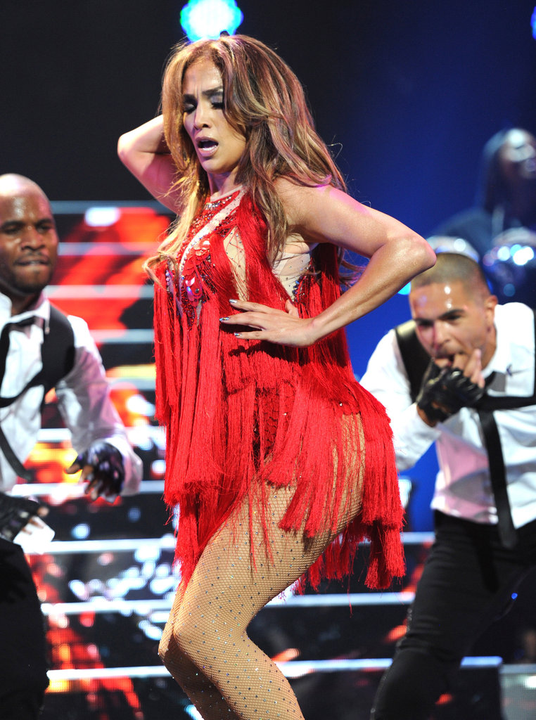 Jennifer Lopez was red hot at the 2011 iHeartRadio Music Festival in Las Vegas.