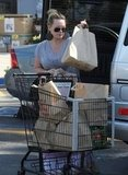 Hilary Duff loaded groceries into her car.