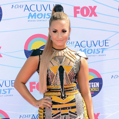 Demi Lovato in Falguni & Shane Peacock Dress at 2012 Teen Choice Awards