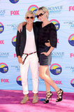 Ellen and Portia DeGeneres