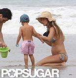 Pregnant Gisele Debuts Bump in a Bikini!