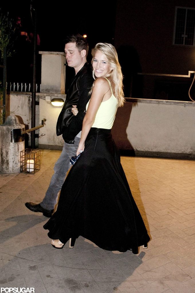 Michael Bublé and Luisana Lopilato took a sweet stroll together during their trip to Rome.