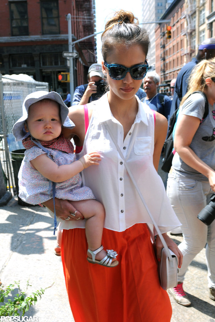 Jessica Alba brought Haven to NYC.