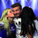 David Beckham Surprises Fans in Photo Booth (Video)