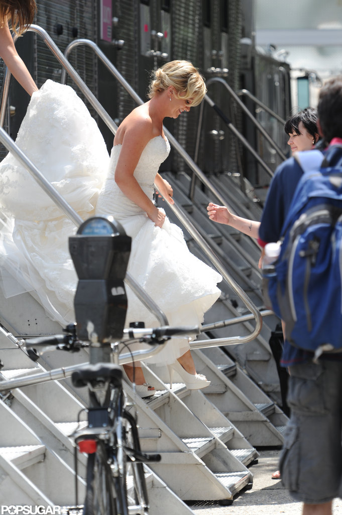 Amy Poehler on the set of They Came Together.