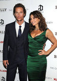 Matthew McConaughey linked up with Gina Gershon at a screening of Killer Joe.