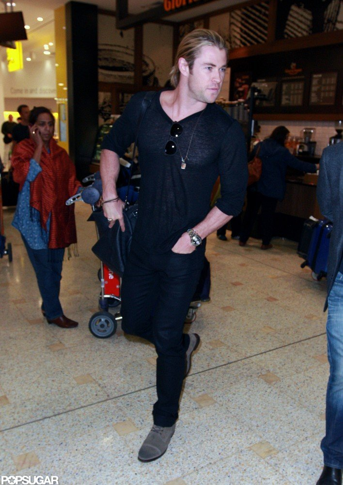 Chris Hemsworth arrived in Sydney.