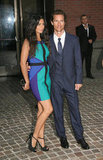 Camila Alves's baby bump was on display as she posed with Matthew McConaughey at a Killer Joe screening in NYC.