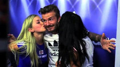 Video: Watch David Beckham Surprise Crying Fans in a Photo Booth!