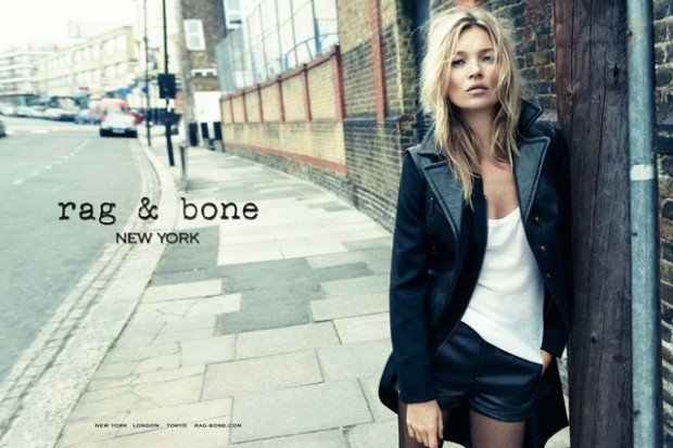 Kate Moss is the face of Rag & Bone's first ever ad campaign.