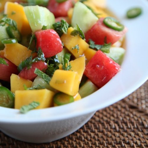 Mango, Cucumber, and Watermelon Salad Recipe