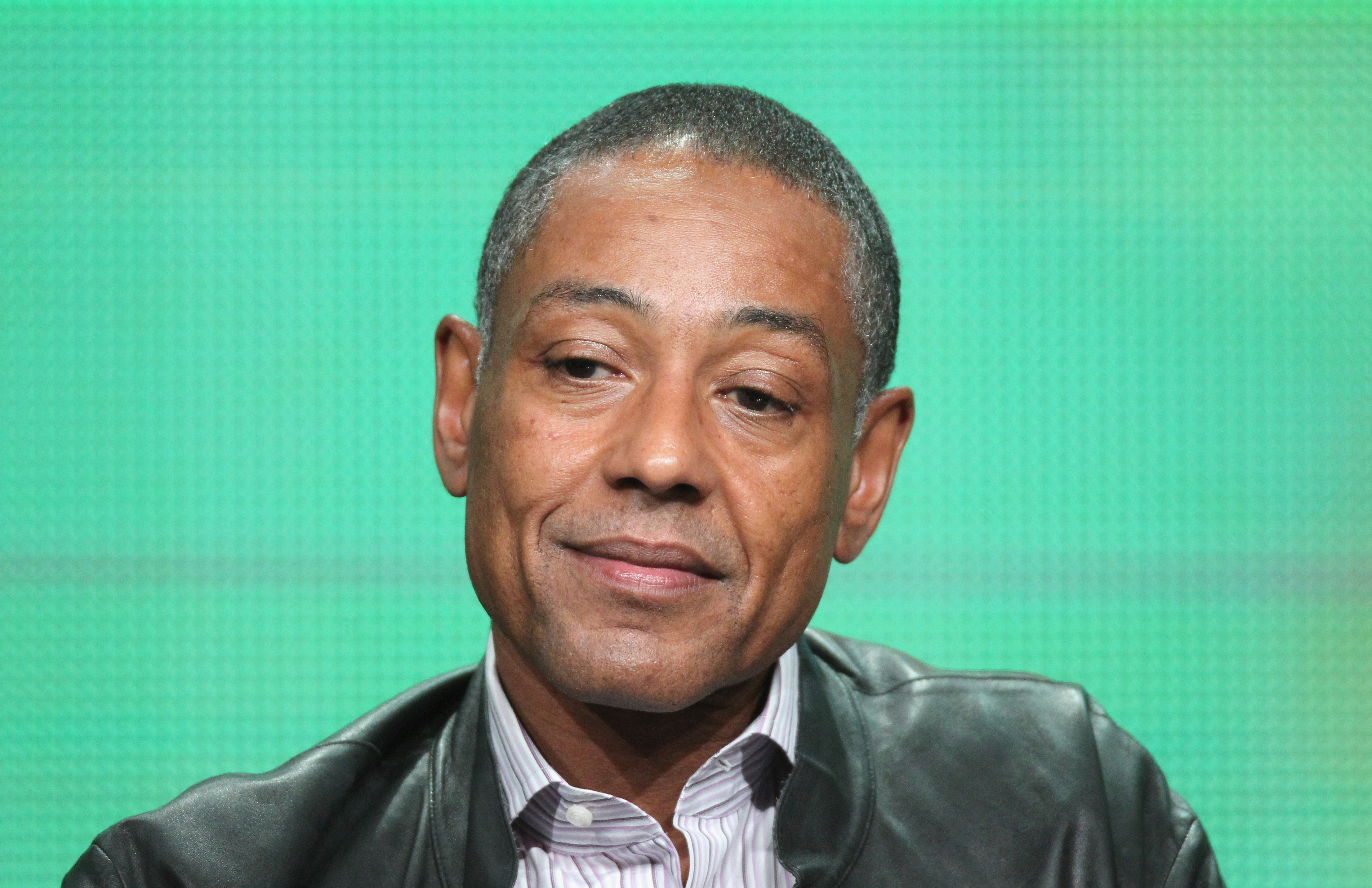 Giancarlo Esposito field questions form the press about Revolution during the discussion.