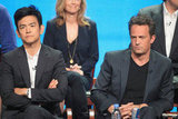 John Cho and Matthew Perry sat side by side at the panel for Go On at the 2012 Summer TCA tour.