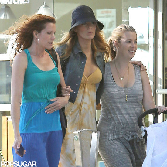 Blake Lively shopped in Beverly Hills with her sister and a friend.