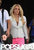 Britney Spears was in a white blazer.