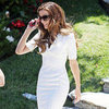 Kate Beckinsale Wearing Tight White Dress