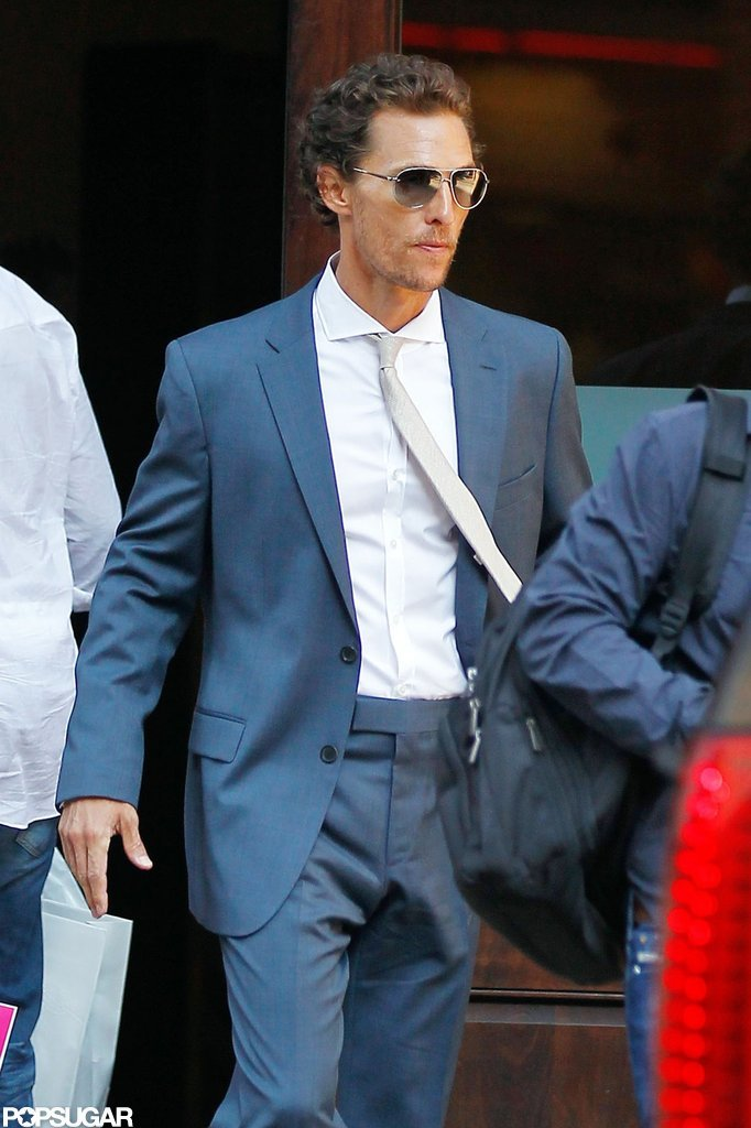 Matthew McConaughey made his way to his car after leaving his hotel in NYC.