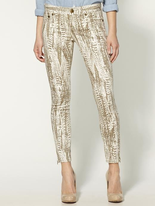 Whether you opt for this feather-printed jean in neutral tones or darker blues, it has a more refined bohemian pattern. Free People Feather Printed Cropped Skinny Jean ($50, originally $88)
