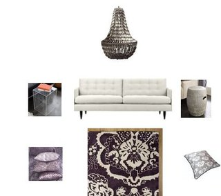One Room Two Ways:  Sitting Areas in Silver and Gold