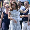 Kate Middleton Wearing a Plaid Dress