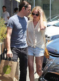Kate Bosworth and Michael Polish Make a Pit Stop For Lunch in LA