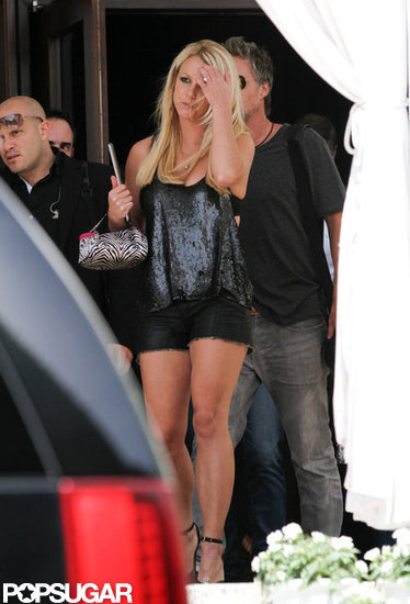 Jason Trawick left a hotel with Britney Spears.