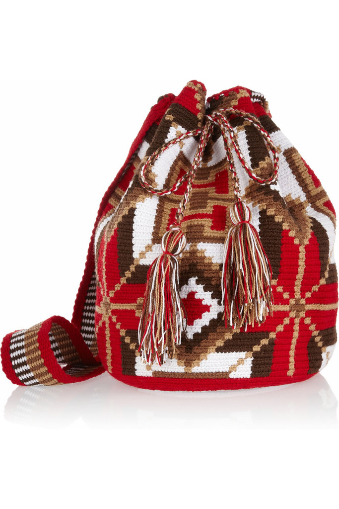 There's nothing worse than lugging around a heavy leather bag all day. We suggest a light canvas, crossbody option so you can keep dancing hands-free all day long. Wayúu Taya Mochilla Hand-Woven Cotton Shoulder Bag ($180)