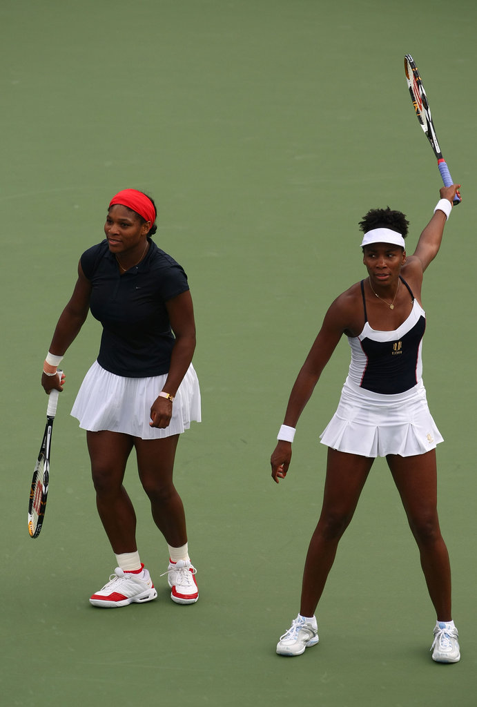 Venus and Serena Williams at the 2008 Olympics