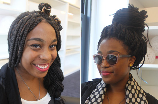 Box Braids With Bangs A chunky side braid works for