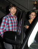 Ashton Kutcher and Mila Kunis headed home.