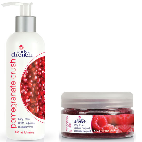 Body Drench Pomegranate Crush Lotion and Body Drench Raspberry Gelée Body Scrub